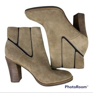 Lucky Brand Maldeev Tan Suede Booties Ankle Boots 10